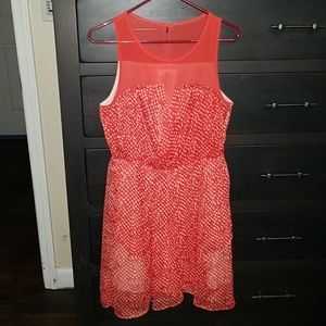 Sugar Lips coral gray dress size medium